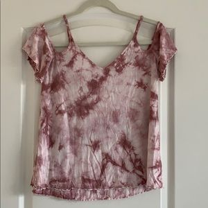 American Eagle Soft & Sexy cold shoulder tie dye s